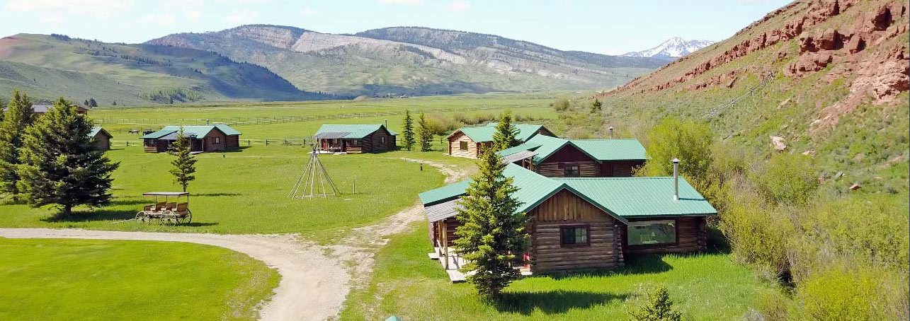 Cabins during day