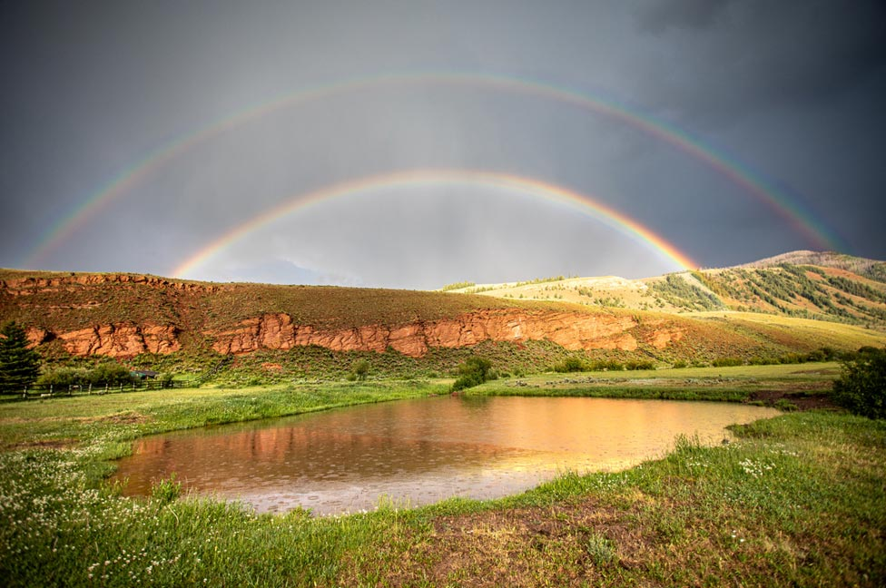 Double rainbow by Jessica Lee